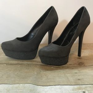 Aldo Shoes - Gray studded heels by ALDO. Size 8